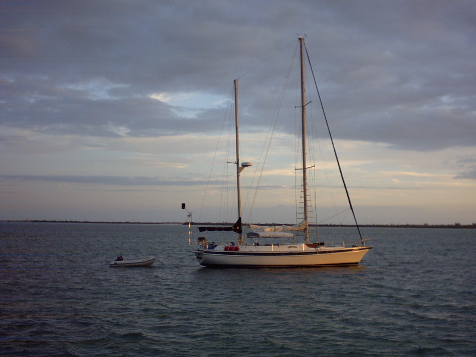 Sailboat Anchored Picnic Island